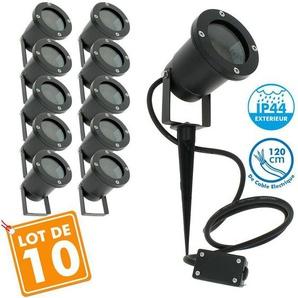 Lot de 10 Spots Extérieurs à Piquer pour LED GU10 Éclairage de Jardin - ECLAIRAGE DESIGN