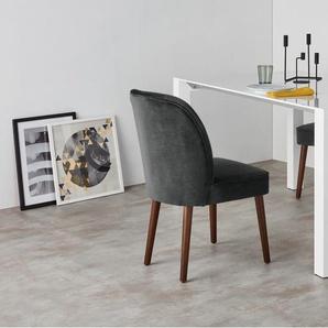 Margot, lot de 2 chaises, velours gris graphite