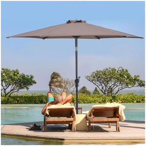 Parasol inclinable diamètre 2,7m en acier - COSTWAY