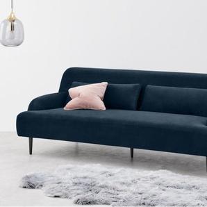 Giselle, canapé 3 places, velours bleu saphir