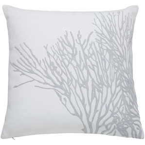 Coussin en coton gris et blanc 45x45cm CORAL