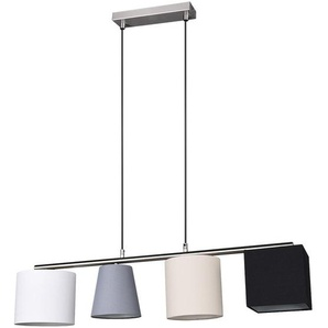 Suspension LED, chrome, textile, 4 parapluies différents, CONNY - ETC-SHOP