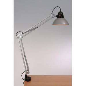 Grande lampe à poser articulée sur étau
