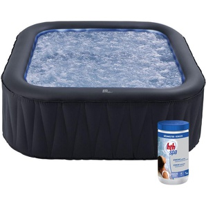 Pack spa gonflable TEKAPO carré 185cm - 6 places + pastilles de brome - MSPA