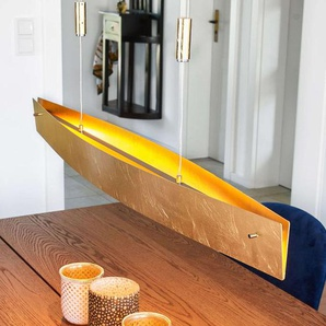 Suspension LED Malu aspect doré 100 cm