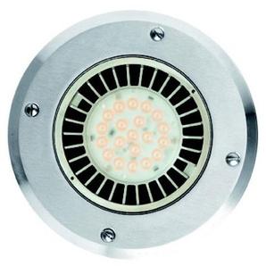 Encastré de sol LED 30W extérieur Ø 180mm acier inox 4000k 1990lm 230V faisceau 40° IP67 OLODUM MIDI SIDE LIGHTING E8267-LBN-40