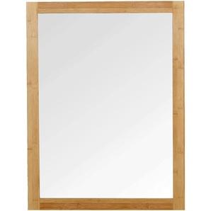 Miroir rectangulaire de salle de bains en bambou 80cm