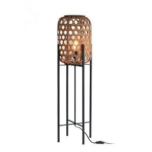 Petit lampadaire de sol en rotin BALI - Boite à design