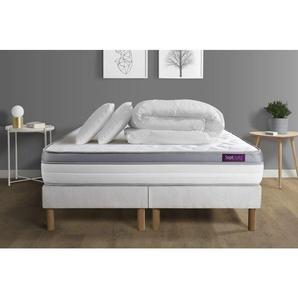 Pack matelas 160x200 + double sommiers 80x200 Memo Zen Mousse à mémoire de forme 5 zones de confort MAXI épaisseur + Couette - SEPTNUITS