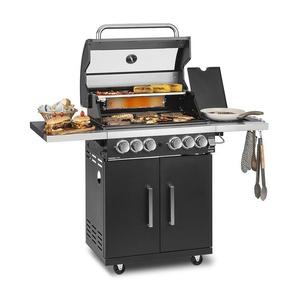 Klarstein Tomahawk 4.2 SBG Barbecue à gaz 6 brûleurs 20,7 kW 64x42 cm inox