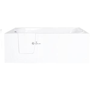 Saniclass Curacao Baignoire à porte XL 76x60x170cm polyester porte gauche blanc CURACAO-XL LINKS