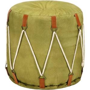 Pouf Vert 40 x 40 cm Toile de coton - VIDAXL