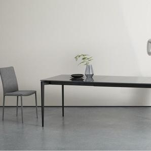 Tandil, table extensible 8 à 12 personnes, verre gris