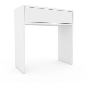 Table console - Blanc, moderne, raffinée, avec tiroir Blanc - 77 x 80 x 35 cm, personnalisable