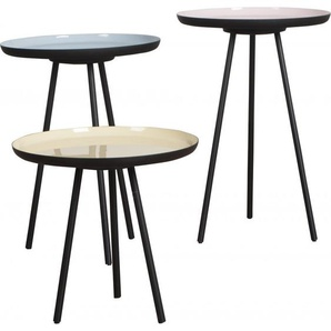3 Tables basses ENAMEL en 3 couleurs pastel - design scandinave