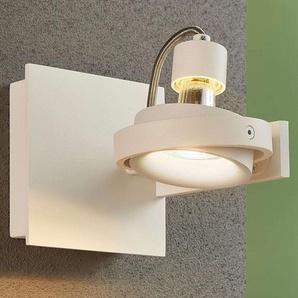 Teska - Projecteur blanc avec ampoule LED GU10