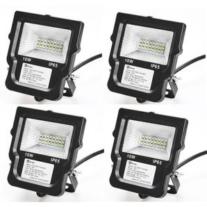 4×Anten Spot LED 10W Projecteur LED IP65 Éclairage Extérieur et Intérieur Blanc Froid 6000-6500K