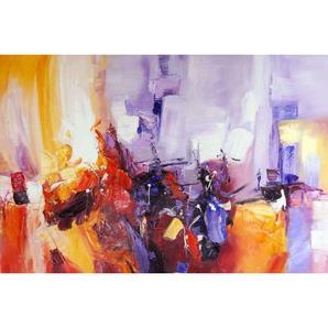 Tableau abstrait violet Jazzy
