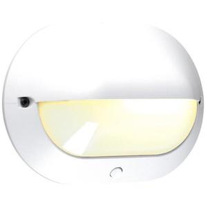 Hublot ovale à visière Chartres Origine mini antivandale noir fonction ON et OFF avec interrupteur et lampe fluo 400lm (583386) - LEGRAND