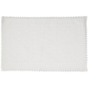 Tapis tissé en coton écru 60x90