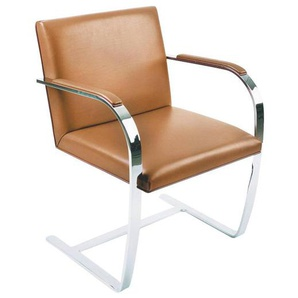Knoll International Brno - Fauteuil - cognac/structure chromée/cuir VSaddle 68