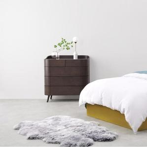 Ormond, lit coffre super king size (180 x 200) avec sommier, velours doré vintage