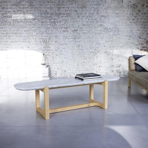 Table basse Stoneleaf en bois de chêne et marbre 170x45