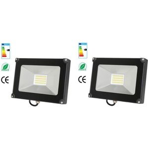 2×Anten 50W Projecteur LED Spot LED Étanche IP65 Lumière Extérieur et Intérieur 4000LM Blanc Froid 6000K Coque Noir