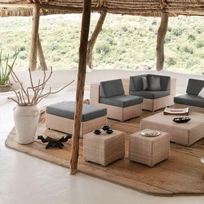 Dedon Tabouret Lounge - L - java - marron foncé - sans coussin dassise