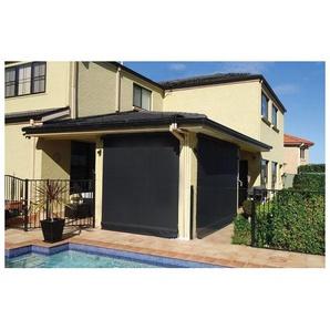 Store vertical enrouleur extérieur pour terrasse ou balcon - 1,8 x 2,5 m - Anthracite - Gris anthracite - SUNNY INCH ®