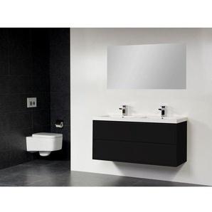 Saniclass New Future Foggia Meuble salle de bain 120cm avec miroir noir
