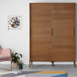 Ledger, armoire penderie à portes coulissantes, frêne teinté