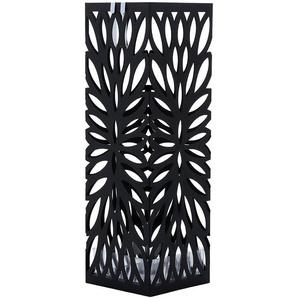 Porte parapluies en métal carré avec un plateau et crochet 15,5 x 49 x 15,5cm noir LUC48B - SONGMICS