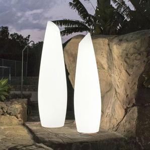 FREDO-Lampadaire dextérieur LED RGB solaire rechargeable H170cm Blanc New Garden