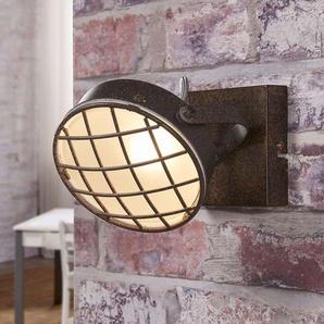 Applique LED Tamin couleur rouille style industrie