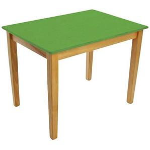 Kinderbunt Tim - Table d'Enfant bicolore - nature/vert/69x49x51cm/structure nature