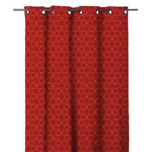 HOME MAISON Rideau occultant en étamine - 140 x 280 cm - 8 Œillets - Rouge