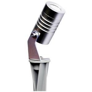 Spot piquet extérieur LED COB 3W CHROME | blanc-froid-6500k - LUMIHOME