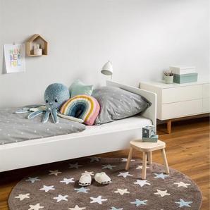 Tapis lavables pour enfants Bambini Stars Bleu ø 150 cm rond - Tapis lavable pour chambre denfants/bébé