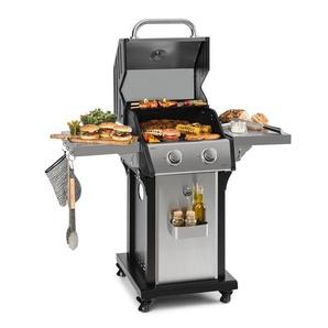 Klarstein Lucifer 2.0-T Barbecue à gaz 2 brûleurs 3,5 kW 45x44cm inox