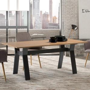 Table 180cm bois et métal style industriel KENIA