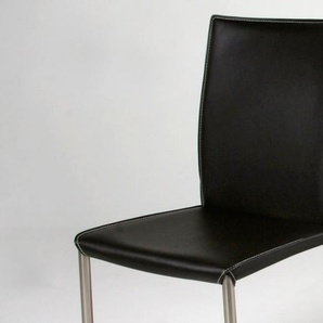Chaise en Cuir COSTA SWING - Noir