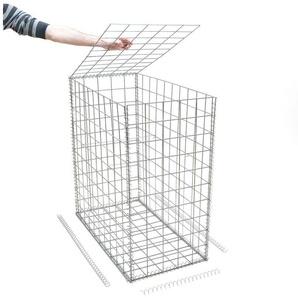 Gabion en kit - 50 cm x 100 cm x 100 cmMaille Carrée 100 mm x 100 mm (Spirales) - ART gabion - RINNO GABION