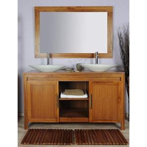 Meuble salle de bain teck 140 grey naturel - SANITECK