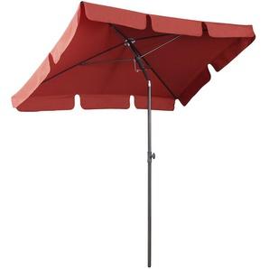 Sekey Parasol carré pour Jardin/terrasse - 200 × 125 cm - Protection Solaire UV 50+ - Terracotta