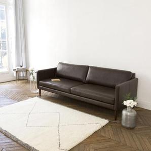 Tapis esprit berbère en laine coton écru 140 x200 cm