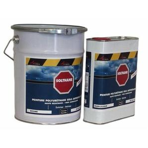 Peinture polyuréthane pour béton haute résistance non jaunissante - SOLTHANE - ARCANE INDUSTRIES - Gris 4 ral 7047 - Kit de 5 kg