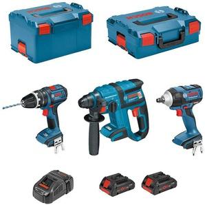 BOSCH Kit PSLG3M2CECP (GBH 18V-EC + GSB 18V-21 + GDS 18V-LI + 2 x 4,0 Ah PROCORE + GAL1880CV + L-Boxx 238 + L-Boxx 136)