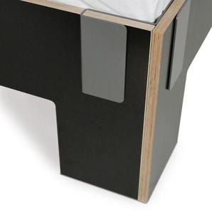 Moormann Lit Tagedieb avec tête de lit - noir (FU) - 200 x 200 cm