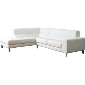 Salon dangle modulable cuir blanc glacé Carrare
